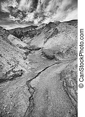 Rivulet in Death Valley - Rivulet at Golden Canyon in Death...