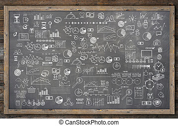 School college chalkboard hand drawn doodle sketch business...