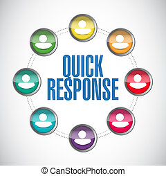 quick response people diversity illustration design over a...
