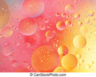 Pink and yellow bubbly background - Pastels.