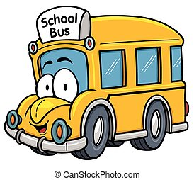 School bus - Vector illustration of School bus cartoon