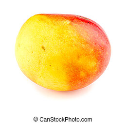 Macro closeup of calypso mango isolated