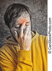 Man with Sinus Headache
