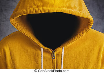 Faceless Man with Hodded Jacket