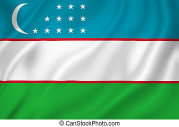 Uzbekistan flag - Uzbekistan national flag background...