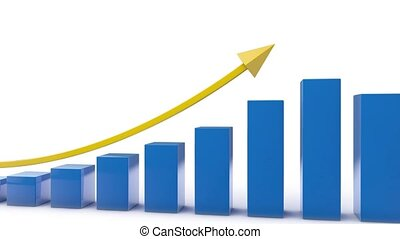 Bar Chart animation business data video animation