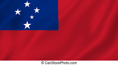 Samoa, bandiera,