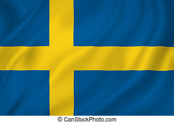 Swedish flag - Swedish national flag background texture.
