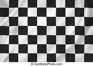 Chequered flag - Chequered racing flag background texture.