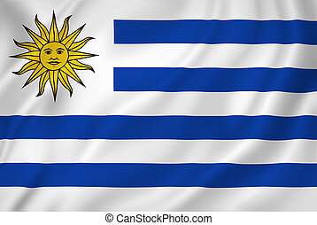 Uruguay flag - Uruguay national flag background texture.