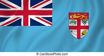 Fiji flag - Fiji national flag background texture.