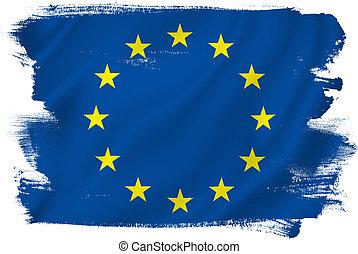 EU flag - EU European Union flag backdrop background...