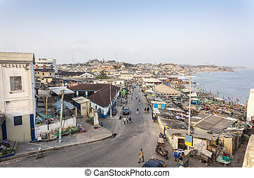Cape Coast Cityscape, Ghana, West Africa