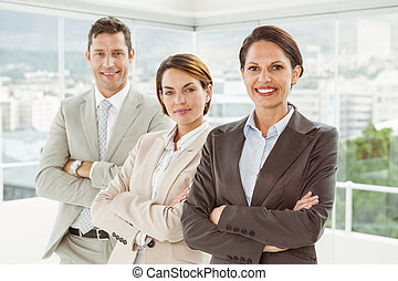 Confident business people - Portrait of confident young...