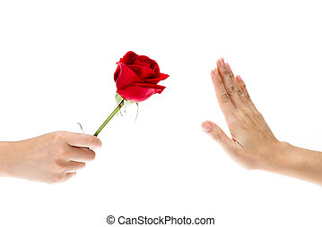 Hand Refused the gift, flowers - Hand Refused the gift, When...