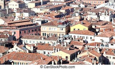 aerial view of the city of venice italy from the belltower...