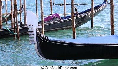 gondola on the sea in Venetian Lago - gondola in the sea of...