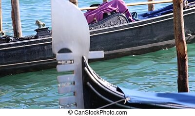 gondola on the sea in venice - gondola on the sea in...