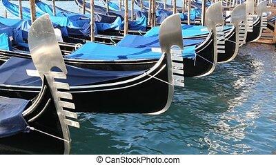 gondola on the sea in venice