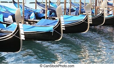 gondola on the sea in venice Italy