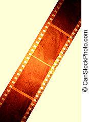 Filmstrip over plain background