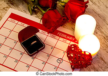Valentine Day, celebrating romance with a marriage proposal...
