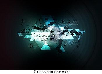 science technology background illustration