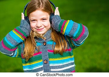 Girl Enjoying the Music