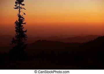 Sierra Nevada Sunset - Sierra Nevada Mountains Sunset Nature...