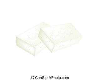 Karukan or Saomono Gashi on A White Background - Japanese...