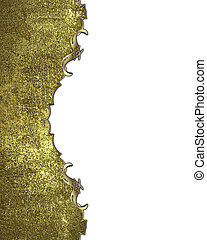 White background with a gold grunge edge. Design template