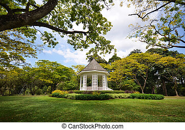 The Bandstand in Singapore Botanic Gardens. - A gazebo known...