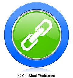 icono, enlace, cadena, señal