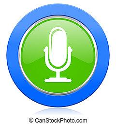 マイクロフォン,  podcast, アイコン, 印