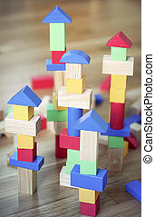 Building blocks - Colorful wooden building blocks