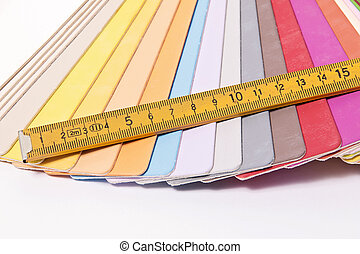 Color Palette and metric folding ruler