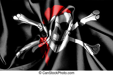 Flag Jolly Roger - Cloth with a printing of a flag