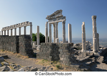 Temple of Trajan, Pergamon, Turkey - Reconstructed fragment...