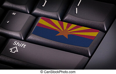 Flag on keyboard - Flag on button keyboard, flag of Arizona