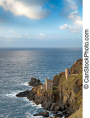 The Cornwall Coast - The Crowns, ruins of old tin mines...
