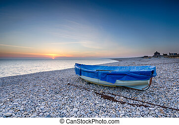 Fishing Boat on Chesil Beach - Fishing boat on Chesil Beach...