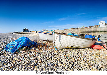 Fishing Boats at Chesil Cove - Fishing boats on a pebble...
