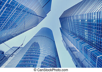 Skyscrapers of the business city center - Skyscrapers of the...