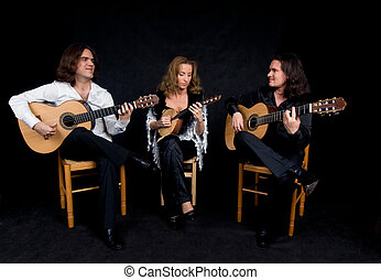 Music trio - Three flamenco artists performing spanish...
