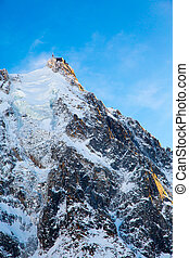 The mountain top station of the Aiguille du Midi in Chamonix