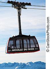 Cable Car Telepherique Auguille du Midi