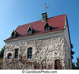 The exterior of a old Home.  Vyborg. Russia