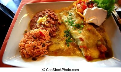 Close up of a plate with burritos HD 1920x1080 - Close up of...