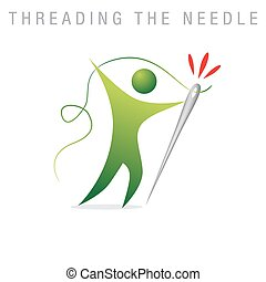 Threading The Needle - An image of a metaphor representing...
