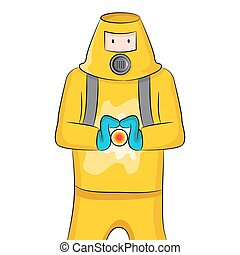 Virus Containment - An image of someone in a protective suit...